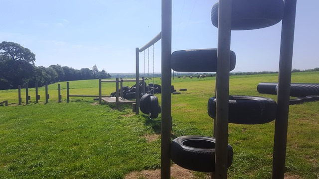 Tyre Stack in the Play Park