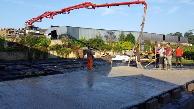 Readymix Concrete at Llety Cynin's extension