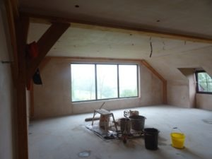 skimming walls in the function room