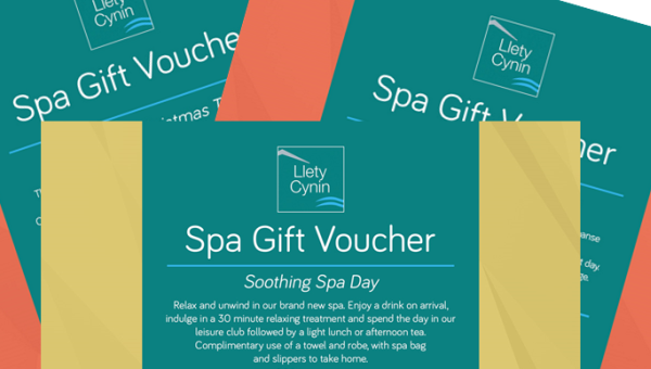 Llety Cynin Spa Gift Vouchers
