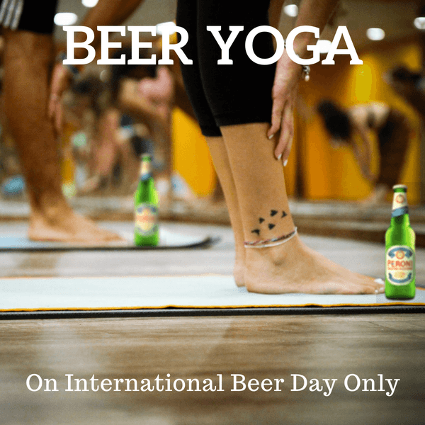 Beer Yoga on international beer day